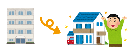 マンションから一戸建てへの住み替えのイメージ