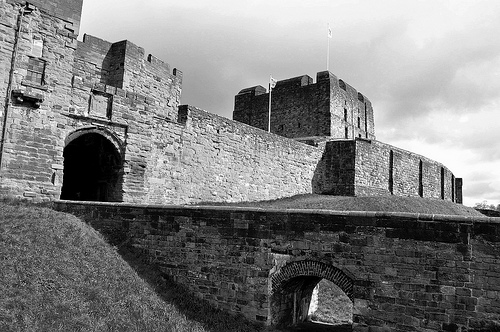 photo credit: A black & white photo of Carlisle Castle. via photopin (license)