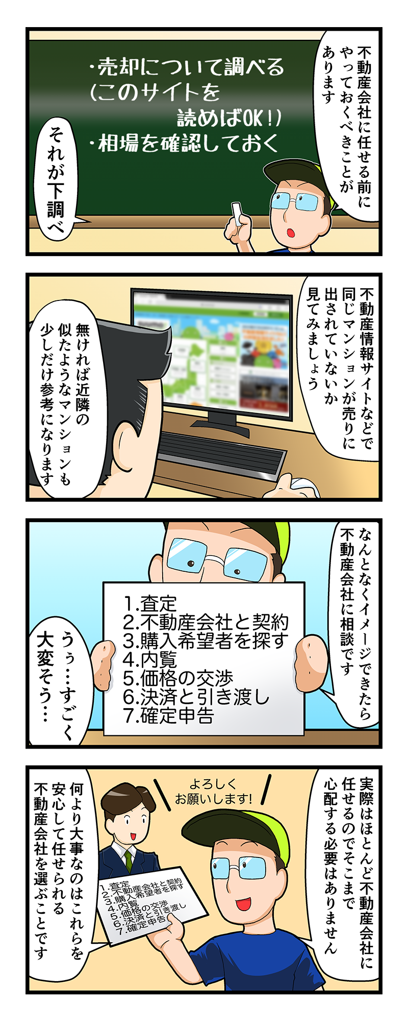 マンション売却講座四コマ漫画第2話